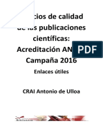 Indicios de calidad de las publicaciones científicas