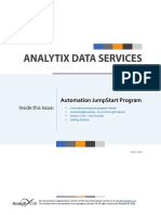 Analytixds Automation Jumpstart Program