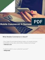 Mobile Commerce - A Success Saga