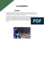 CALDERERIA 1, informe de daldereria procesos de manufactura uni