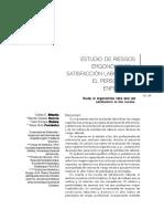 ESTUDIO DE RIESGOS ERGONÓMICOS Y SATISFACCIÓN LABORAL EN EL PERSONAL DE ENFERMERÍA