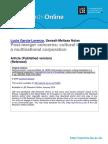 Libfile REPOSITORY Content Garcia-Lorenzo%2C L Post-merger Concerns Garcia-Lorenzo Post-merger Concerns 2014