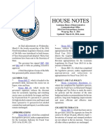 2016 House Notes 1st Special Wrap Up