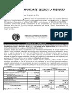 HCM VIDA La Previsora 2016 2017