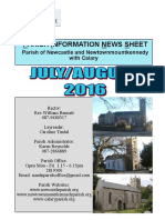 Parish News Newcastle Parish Wicklow July & August 2016