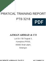 Practical Training Report simple type