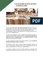 El Perú Último en Porcentaje de Lectura de Libros en América Latina
