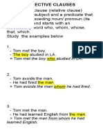 Adjective Clause and Participial Phrase
