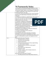 vapa frameworks notes