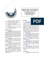 2016 House Notes Regular Session Week 3