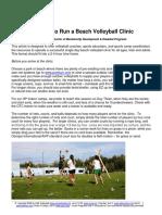 How to Run a Beach Volleyball Clinic 61708