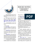 2016 House Notes Regular Session Week 7