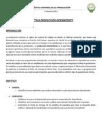 Produccion Intermitente (Planeación y Diagramación)