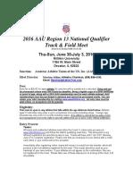 AAU Region 13 Schedule