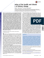 Analysis and valuation of the health and climate change cobenefits of dietary change
