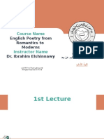 EKFU-ART-English Poetry From Romantics to Moderns -Lecture01-First Lecture