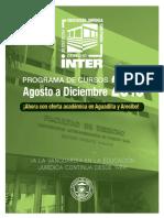 [EDUCACIÓN JURÍDICA CONTINUA] Programa Ago-Dic2016 Inter-Derecho