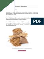 Clasificación de Los NutrientesCarbohidratos