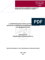 Administración de Capital Medicina