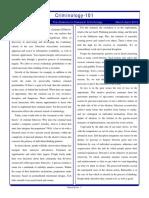 Criminology Newsletter Classics MarApr