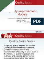 8923333Quality Improvement Models Presented by Donna m Daniel Phd1401