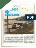 Revista Tráfico nº 13 - Julio/Agosto de 1986 - El Reposo del Emigrante