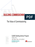 The Value of Building Commisioning