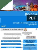 Clase 2 Conceptos de Biología y Niveles de Organización