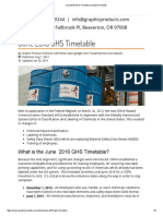 June 2016 GHS Timetable