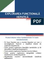Explorarea Functionala Hepatica