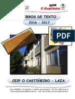 Libros de Texto 2016 17 Ceip o Castiñeior Laza 1