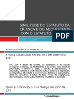 Similitude Do Estatuto Da Criança e Do Adolescente