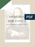 Memoria Informativa Biblioteca IES Federico García Lorca 15/1&