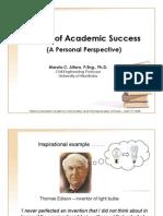 Pursuit of Academic Success