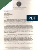 Boulder DA's letter on Bryson Fischer shooting