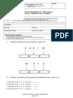 Evaluación N° 4 Matemática 3°