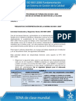 Requisitos Norma ISO 90012008