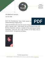 City of Scott News Release
