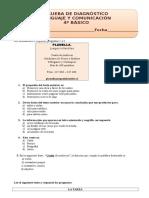 4° básico Lenguaje  diagnóstico