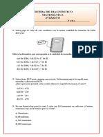4°básico diagnóstico Matemáticas