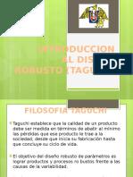 INTRODUCCION AL DISEÑO ROBUSTO ( TAGUCHI)
