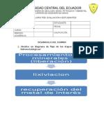 Primer Examen de Metalurgia Extractiva Periodo Abril-septiembre 2015