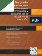 Tres grandes sistematizaciones pre varelianas para comprender y comparar con la actual ley de educación .pptx
