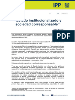 EDITORIAL | Estado institucionalizado y sociedad corresponsable | 06-may-16