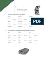 werkblad romeinse cijfers
