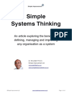 Simple Systems Thinking