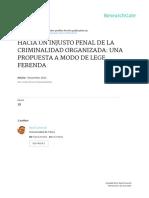 Hacia Un Injusto Penal de La Comunidad Organizada