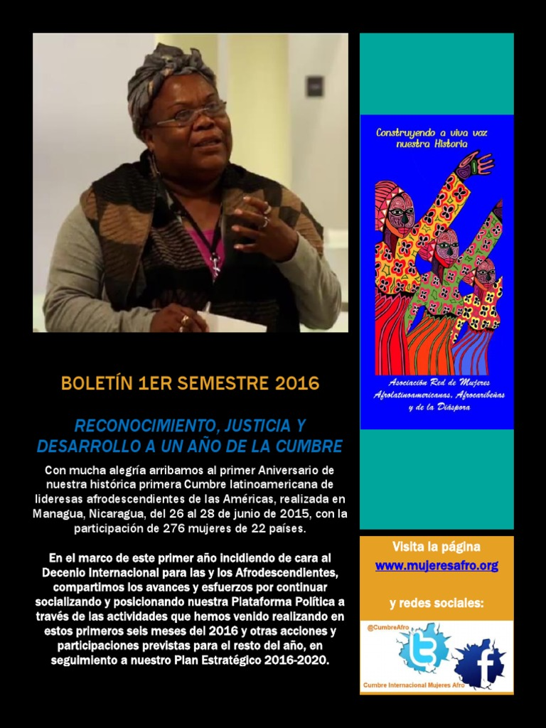 boletin semestral red afro en 1er aniversario cumbre