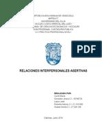 RELACIONES INTERPERSONALES ASERTIVAS