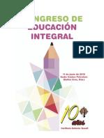 Programa completo del 1er Congreso de Educación Integral